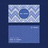 Vector purple drops chevron vertical round frame pattern business cards set
