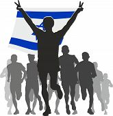 stock photo of israel people  - Illustration silhouettes of athletes - JPG