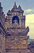 Buddist temple Borobudur. Yogyakarta.  Indonesia
