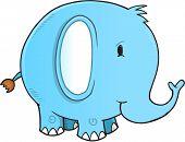 Cute Elephant Vector Illustration Art