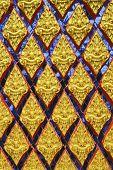 thai art pattern on temple door