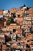 Fragile Houses of Favela in Rio de Janeiro