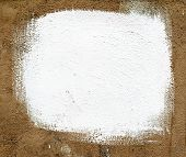 Square White Paint On Old Plaster.