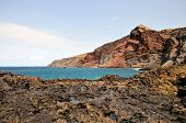 picture of off-shore  - The rugged volcanic coastline and shores of the island of Fogo Part of the archipelago of Cape Verde off the west coast of Africa - JPG
