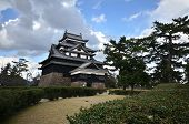 A Vew Of Matsue Samurai Feudal Castle In Shimane Prefecture