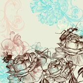 Fashion Floral Background With Roses