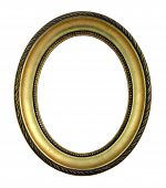Gold Oval Picture Frame
