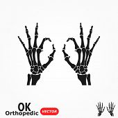 Ok Orthopedic  ( X-ray Human Hand With Ok Sign )