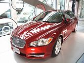 New Jaguar Luxury Car On Display