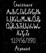 Chalk Drawn Alphabet And Numbers