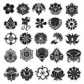 picture of organist  - Set of graphical icons flowers - JPG
