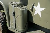 Military Jerrycan On A Truck