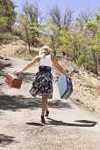 Girl Walking Down Path