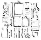 set of stationery drawings