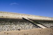 Sea Wall And Steps On Canvey Island, Essex, England