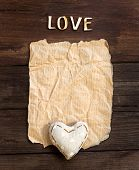 Old Paper, Heart  And Word  Love