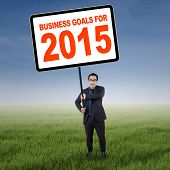 Asian Manager With Business Goals For 2015