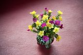 Plastic Flower In Vase