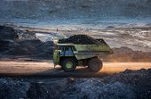 picture of dump_truck  - coal - JPG