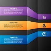 Progress icons for three steps