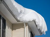 Snow Drift On Roof