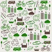 Eco energy saving concept collection.
