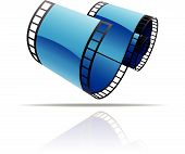Blue film reel icon