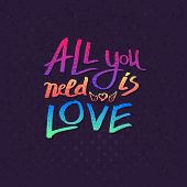 All You Need Is Love card design