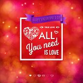 Colorful Valentines Day card design