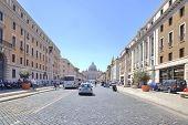 Street Leading To The Square Of Saint Peter. Rome