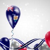 Anguilla flag on balloon