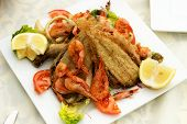 Tasty Fish With Seafood.