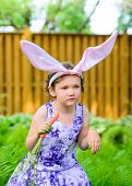 Little Girl In Bunny Ears
