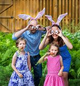 Funny Family Easter Portrait