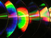 Seis discos compactos