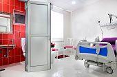 Interior of hospital room