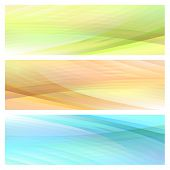 Abstract Bright Background Set