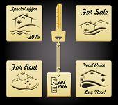 Real Estate Badge Set