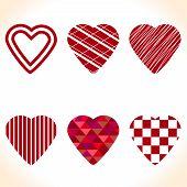 Set Of Original Design Forms The Heart