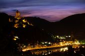 Panorama of Cochem on the mountain and Mosel river
