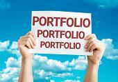 Portfolio card with sky background