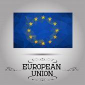 Vector geometric polygonal European Union flag.