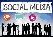 picture of socialism  - Social Media Social Networking Technology Connection Concept - JPG
