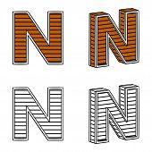 stock photo of letter n  - Letter N  - JPG