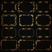 picture of brocade  - Vector set of decorative hand drawn elements - JPG