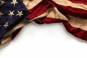 picture of usa flag  - Old American flag background for Memorial Day or 4th of July - JPG