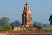 stock photo of khajuraho  - Javari Temple. Eastern temples group of Khajuraho. Madhya Pradesh. India. Built around 1075 -1100 ** Note: Visible grain at 100%, best at smaller sizes - JPG