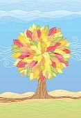 Autumn Tree / Vector Illustrations