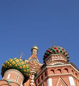 stock photo of blessed  - image of one blessed Basil cathedral at day - JPG