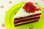 stock photo of red velvet cake  - Red velvet chocolate cake  - JPG